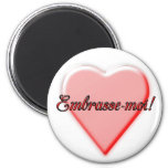 Kiss Me 2 Inch Round Magnet