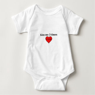 Kiss me 3 times for Infants Baby Bodysuit