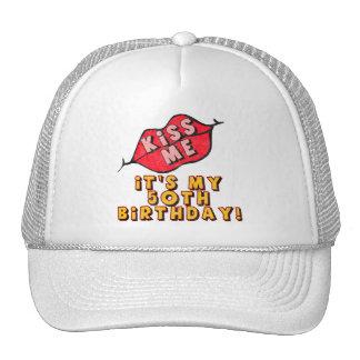 Kiss Me 50th Birthday Gifts Mesh Hat