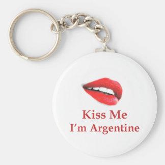 Kiss Me Argentine Keychains