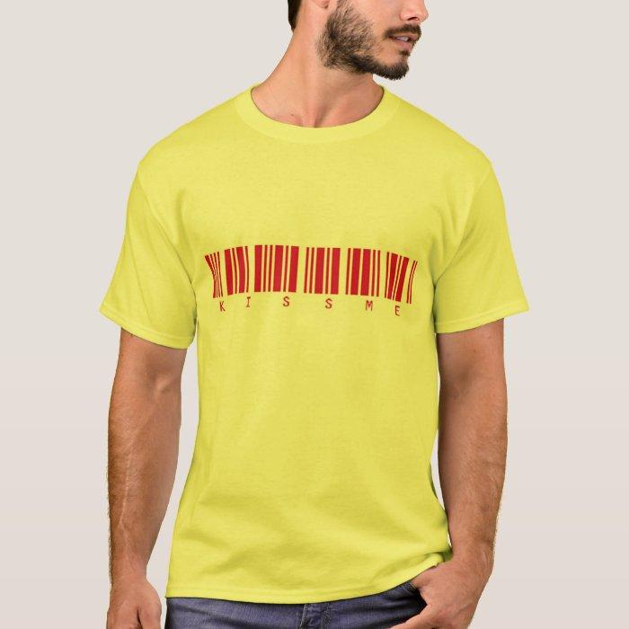 Kiss Me, Barcode Valentine T-Shirt