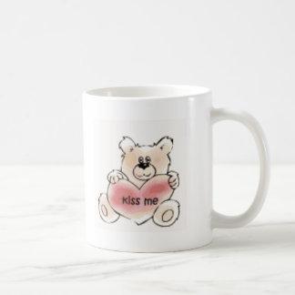 kiss me bear mug