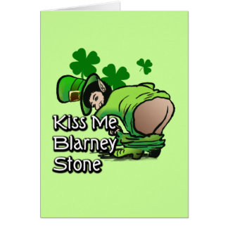 Kiss Me Blarney Stone Greeting Card
