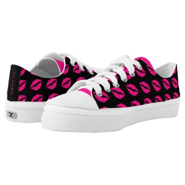 Beach Themed Kiss Me! Blow Me A Kiss Low Top Sneakers