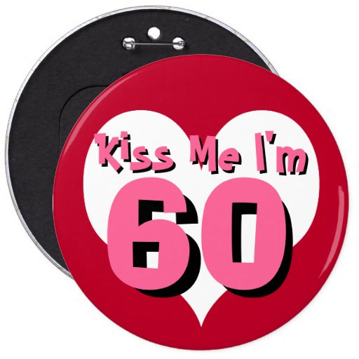 Kiss Me Button - 60