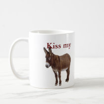 kiss me donkey coffee mug