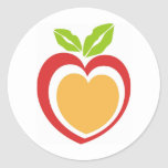 Kiss Me Food Classic Round Sticker