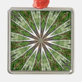 Kiss Me for Good Luck Star Burst Kaleidoscope Christmas Tree Ornament