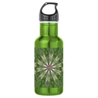 Kiss Me for Good Luck Star Burst Kaleidoscope Stainless Steel Water Bottle