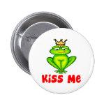 Kiss me frog button