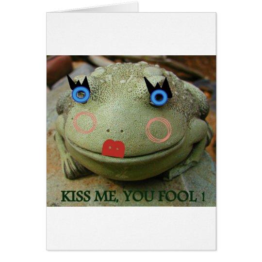 KISS ME FROG CARD