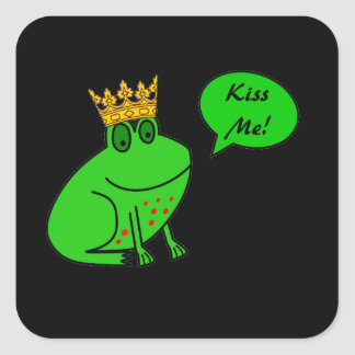 Kiss Me - Frog Prince - Funny Valentine Stickers
