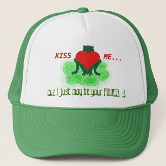 Kiss Me Frog to Prince Theme Trucker Hat