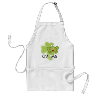 Kiss Me Froggy Tshirts and Gifts Adult Apron