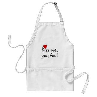 Kiss Me Funny Valentine Adult Apron