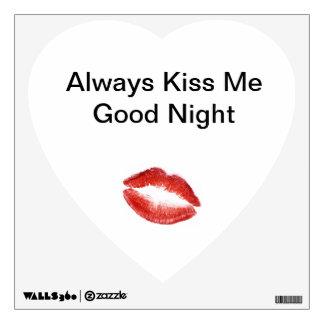 Kiss Me GoodNight Wall Sticker
