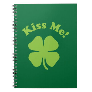 Kiss Me Green Spiral Note Book
