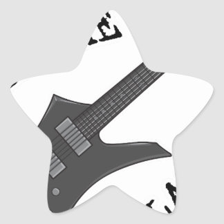 Kiss Me Guitar Player Star Sticker