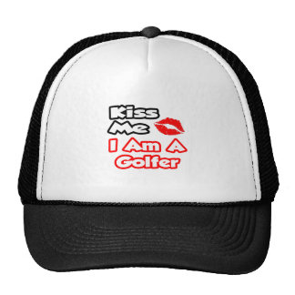 Kiss Me...I Am A Golfer Mesh Hat