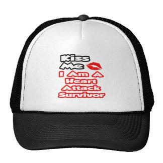 Kiss Me...I Am A Heart Attack Survivor Mesh Hat