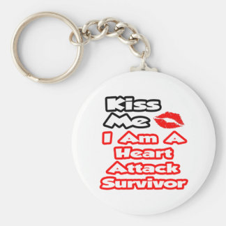 Kiss Me...I Am A Heart Attack Survivor Keychain