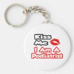 Kiss Me...I Am A Podiatrist Keychain