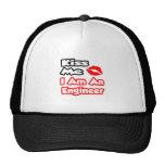 Kiss Me...I Am An Engineer Trucker Hat