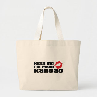 Kiss me I am from Kansas Tote Bags