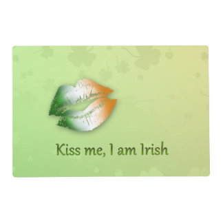 Kiss Me I am Irish - Laminated Placemat