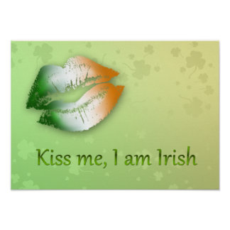 Kiss Me I am Irish - Poster Print