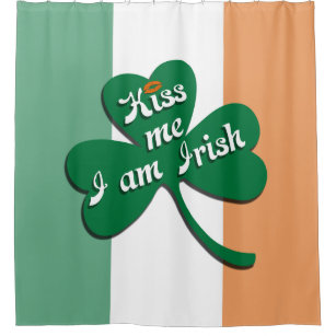 Kiss Me I Am Irish Shower Curtain