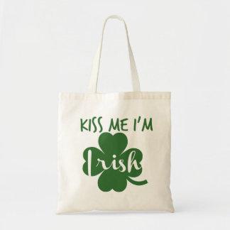kiss me i am irish tote bag