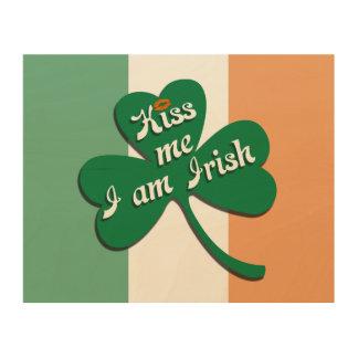 Kiss me I am Irish Wood Wall Decor