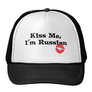 Kiss Me I'm Russian Mesh Hat