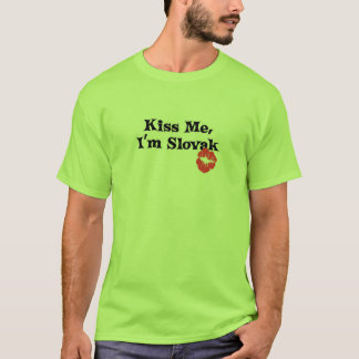 Kiss Me I'm Slovak T-Shirt