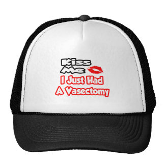Kiss Me...I Just Had A Vasectomy Mesh Hat