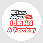 Kiss Me...I Just Had A Vasectomy Sticker
