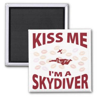 Kiss Me I m A Skydiver Fridge Magnets
