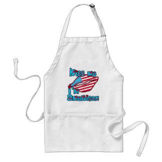 Kiss Me I m American Products Aprons