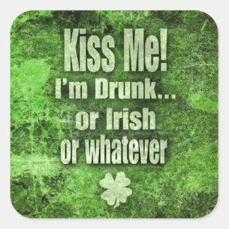Kiss Me I m drunk Sticker
