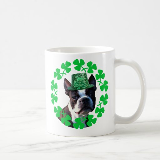 KIss me I' m Irish Boston Terrier mug