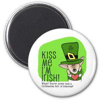 Kiss Me I m Irish Chihuahua Refrigerator Magnets