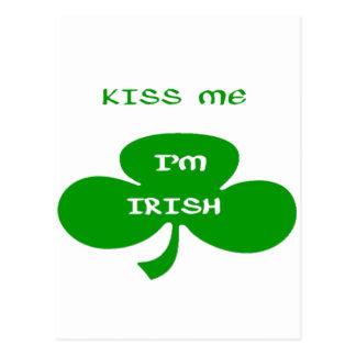 Kiss Me, I`m Irish Postcard