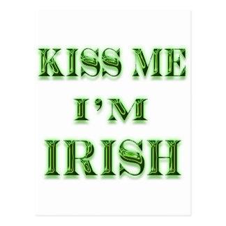 Kiss Me I,m Irish Postcard