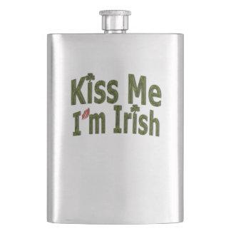 Kiss Me I'm Irish - Saint Patricks Day Hip Flasks