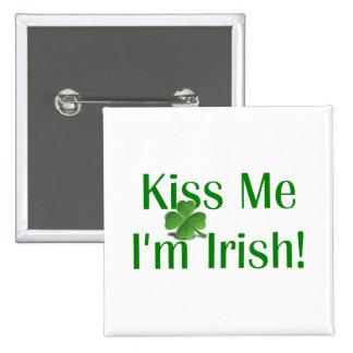 Kiss Me I m Irish Shamrock Pins
