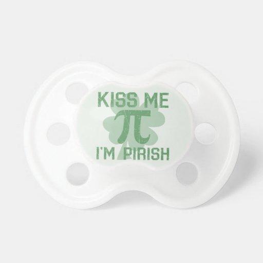 """Kiss Me, I'm Pi-rish"" Pacifiers"