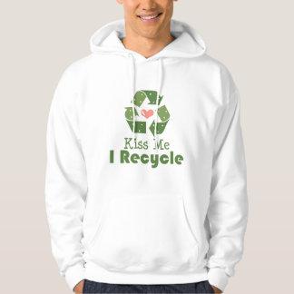 Kiss Me I Recycle Hooded Sweatshirt