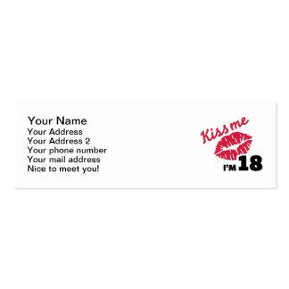 Kiss me I'm 18 years Mini Business Card