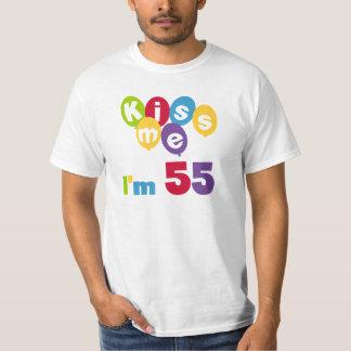 Kiss Me I'm 55 Birthday Tshirts and Gifts